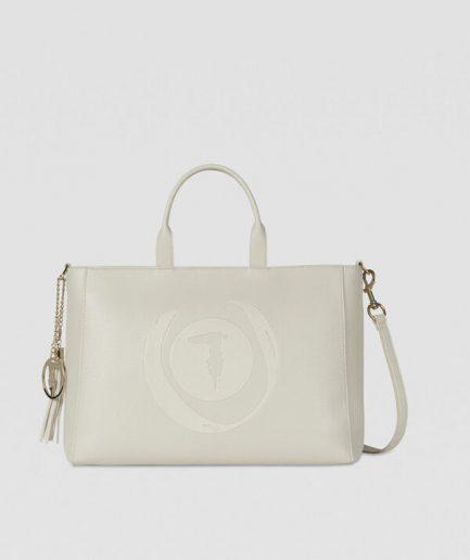 Tersicore Shopping bag Faith bianca Trussardi tan