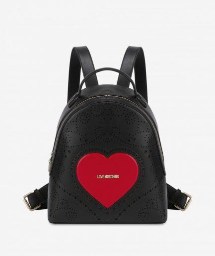 Love Moschino Zaino Heart Embroidery Nero Tersicore