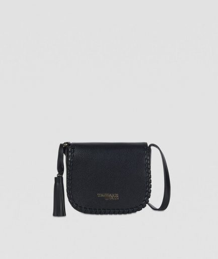 Trussardi Cross-body Amanda small nera in similpelle liscia Tersicore