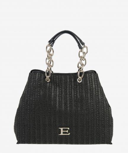 Ermanno Scervino Small Shopper Gloria Black Tersicore