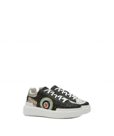 Pollini Sneaker Heritage Nero/Platino Tersicore