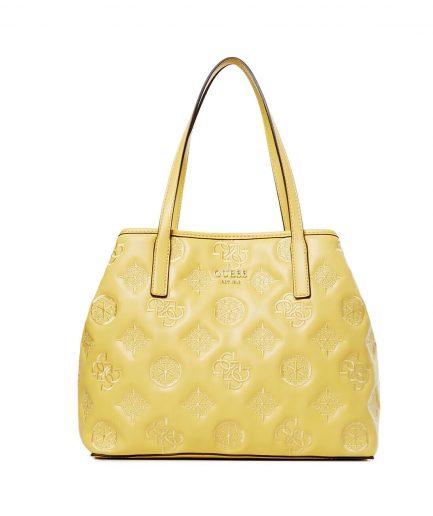 Guess shopper Vikky logo ricamato gialla small Tersicore