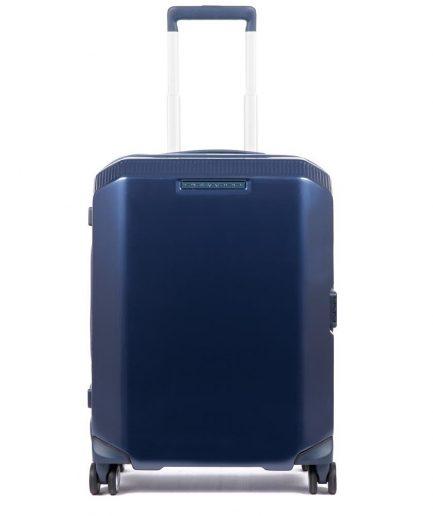 Piquadro trolley cabina rigido ultra slim blu Tersicore