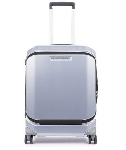 Piquadro trolley cabina rigido porta pc grigio Tersicore