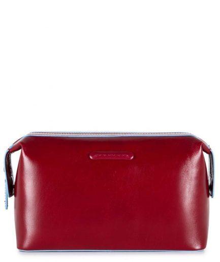 Piquadro beauty in pelle blue square rosso Tersicore