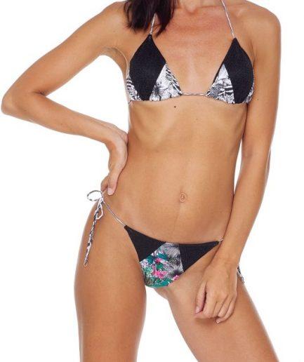 F**k bikini triangolo e slip laccetto brasiliano regolabile Garden Tersicore