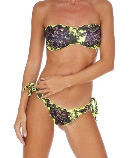 F**K Bikini fascia e slip nodi brasiliano regolabile Frou Frou Melting Pot a fantasia Tersicore