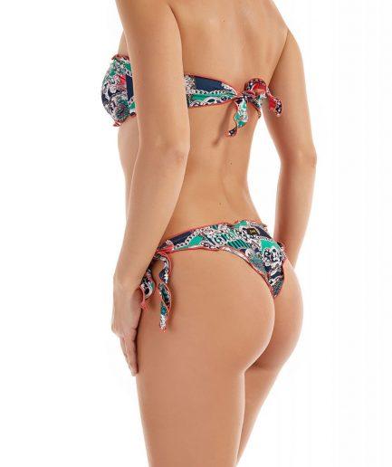 F**K costume donna bikini fascia e slip nodi frou-frou the villa silver Tersicore