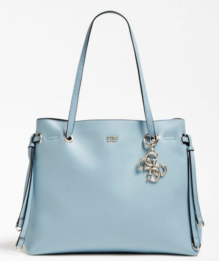 Guess shopper Digital charm logo azzurra Tersicore