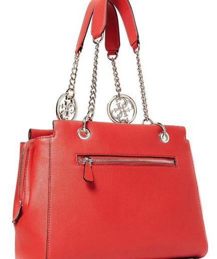 Guess borsa a mano Tara logo rossa Tersicore