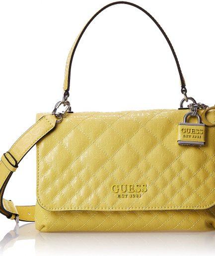 Guess borsa a mano Queenie 4g logo giallo Tersicore