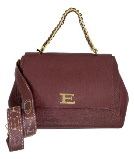 Ermanno Scervino Shopping Bag Eba Winter Plain 12401033 col. Bordeaux