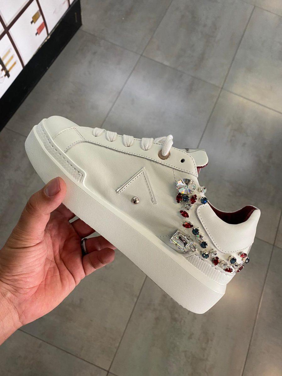 Ed Parrish Sneakers Donna Sarah Ckld-Ar11 White/Swarovski