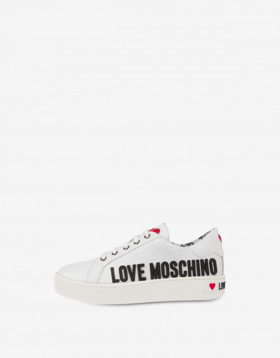 Love Moschino Sneakers in vitello Rubber Logo