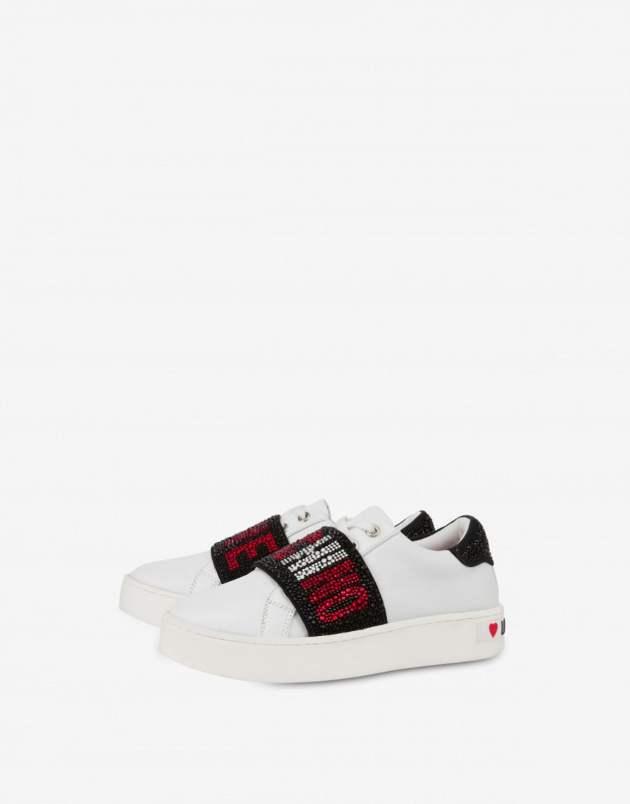 Love Moschino Sneakers Crystal Elastic Band