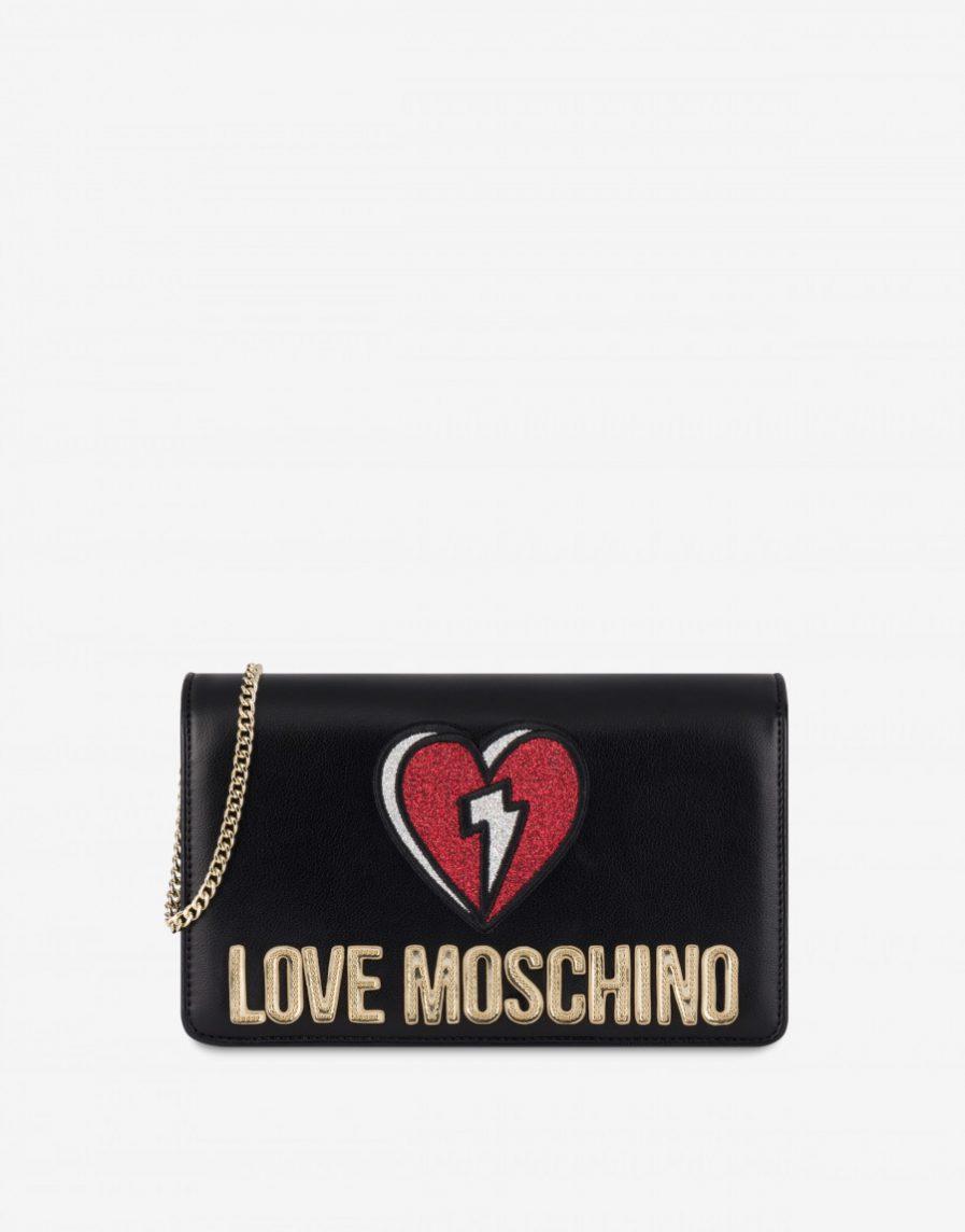 Love Moschino Evening bag Glitter Heart