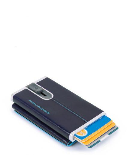 Piquadro Compact wallet per banconote e carte di credito Blue Square col. blu notte