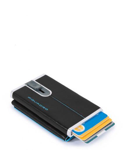 Piquadro Compact wallet per banconote e carte di credito Blue Square col. nero