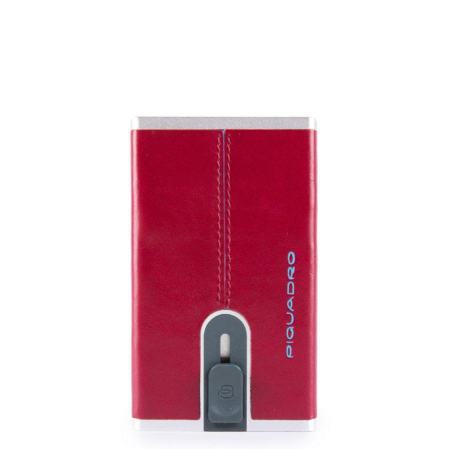 Piquadro Compact wallet per banconote e carte di credito Blue Square col. rosso