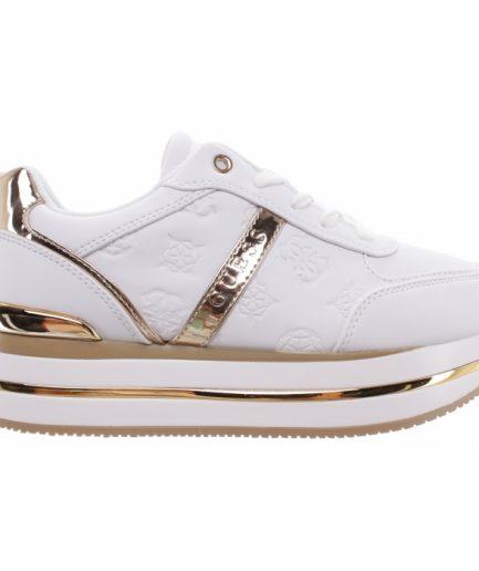 Guess Sneakers platform con logo col. bianco