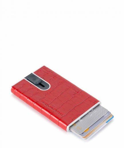 Piquadro Porta carte di credito con sliding system rosso Tersicore Crotone