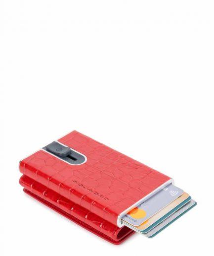 Piquadro Compact wallet per banconote e carte di credito rosso Tersicore