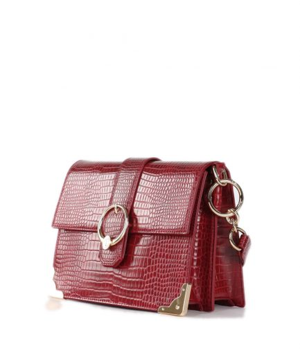 Trussardi cross-body medium Miami in similpelle stampa coccodrillo rossa Tersicore Crotone