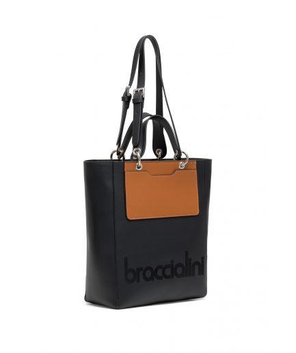 Braccialini tote my one nero e cuoio Tersicore Crotone