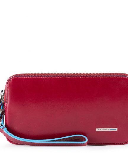 Piquadro Pochette a due scomparti con porta Blue Square rosso Tersicore Crotone
