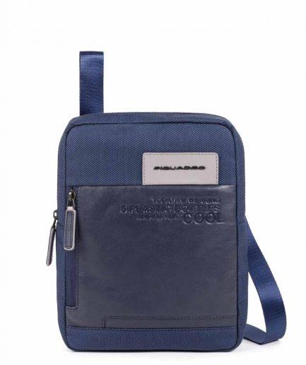"""Piquadro borsello porta iPad Pro 11"""" in tessuto riciclato Ade blu notte Tersicore Crotone"""
