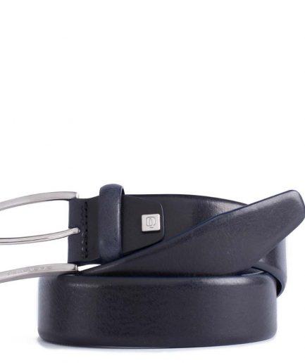 Cintura uomo reversibile con fibbia ad ardiglione blu notte Tersicore Crotone