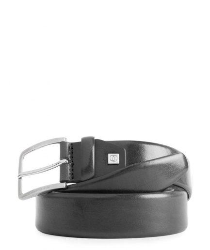 Cintura uomo reversibile con fibbia ad ardiglione nera Tersicore Crotone