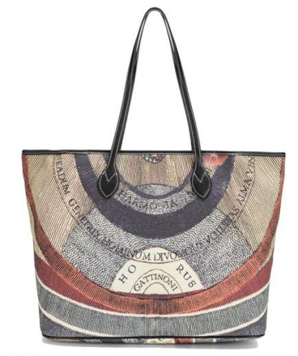 Gattinoni shopping bag grande Planetarium nera Tersicore Crotone