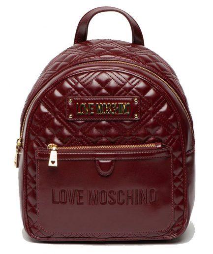 Love Moschino Zaino trapuntato con logo bordeaux Tersicore Crotone