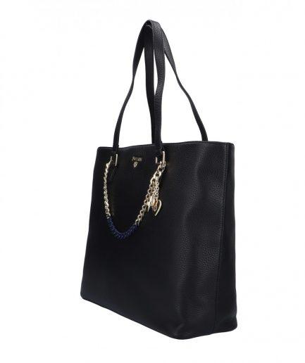 Pollini Silver shopping bag nera Tersicore Crotone