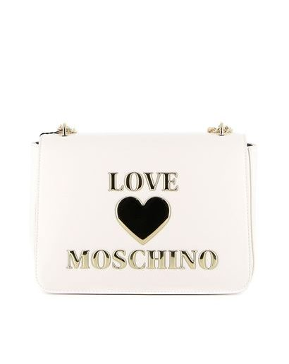 Love Moschino tracolla bianca padded heart Tersicore Crotone