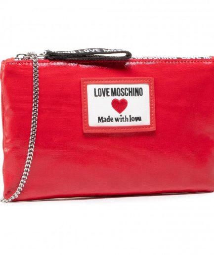 Love Moschino tracolla sporty label rosso Tersicore Crotone