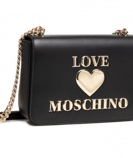 Love Moschino tracolla nera padded heart Tersicore Crotone