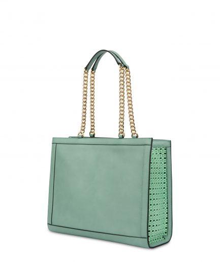 Pollini Shopping bag menta Tersicore Crotone