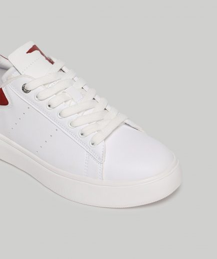 Trussardi sneakers Yrias in similpelle color block rosso/bianco Tersicore Crotone