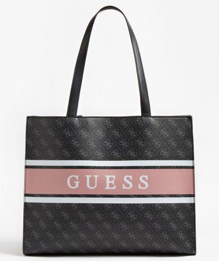 Guess shopper Monique maxi 4G logo black multi Tersicore Crotone