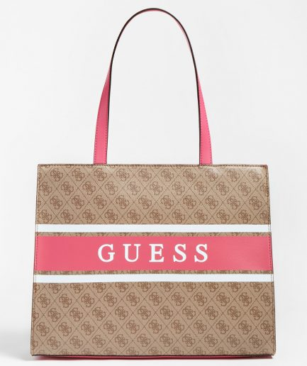 Guess shopper Monique maxi 4G logo multi pink Tersicore Crotone