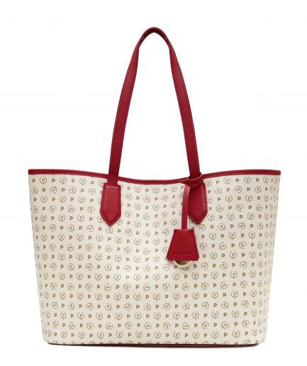 Pollini Heritage borsa shopping avorio/lacca Tersicore Crotone