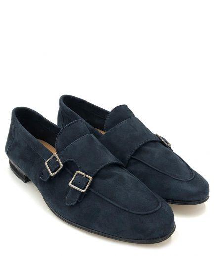 Antica Cuoieria Shoemaker's Mocassino leggero doppia fibbia/suola in cuoio