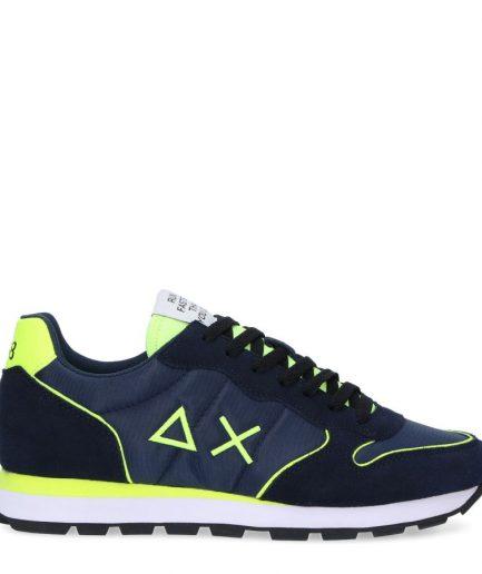 Sun68 Sneakers Uomo Tom Nylon Fluo Z31102 Blue Navy