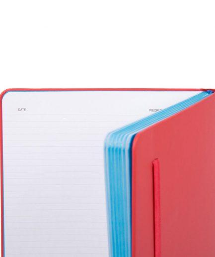 Piquadro Quaderno a righe formato A6 Stationery rosso Tersicore Crotone