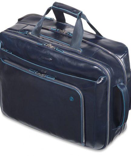 Trolley cabina con compartimento porta PC e porta iPad Blue Square blu Tersicore Cosenza