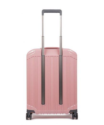 Piquadro Trolley cabina rigido ultra slim a quattro ruote Collezione PQ-Light rosa Tersicore Crotone