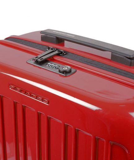 Piquadro Trolley cabina rigido ultra slim a quattro ruote Seeker rosso Tersicore Crotone