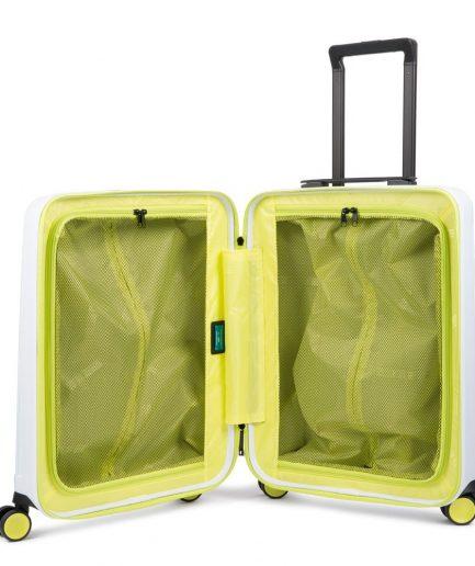 Piquadro Trolley cabina rigido ultra slim a quattro ruote Seeker bianco/giallo Tersicore Crotone